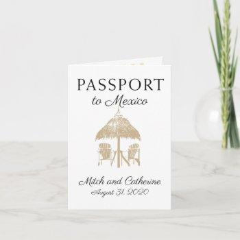 puerto penasco mexico tan passport wedding invitation