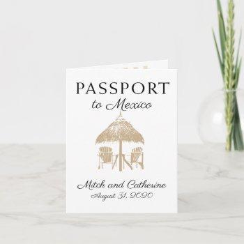puerto penasco mexico tan passport wedding invitation