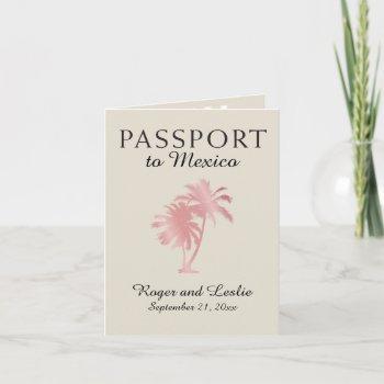 puerto vallarta mexico wedding passport invitation