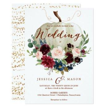 pumpkin wedding invitation - fall wedding