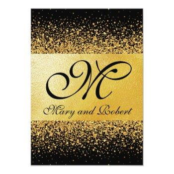 pure gold elegance invitation