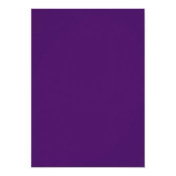 Small Purple And Silver Damask Swirls Wedding Invitation Back View