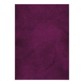 Small Purple Plum Blush Pink Rose Boho Geometric Wedding Invitation Back View