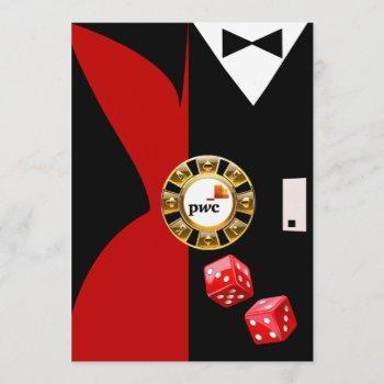 pwc casino royale vegas swank dinner dance invitation