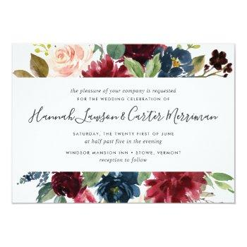 Small Radiant Bloom Floral Wedding Invitation | Square Front View