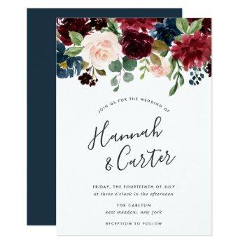 radiant bloom wedding invitation