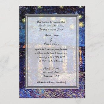 religion's wedding, van gogh starry night invitation