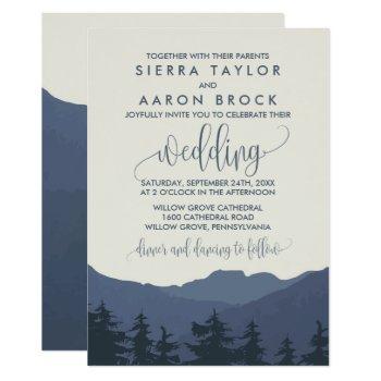 retreat to the mountains wedding invitation