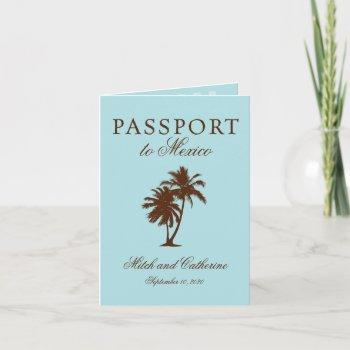 riviera maya mexico passport | wedding invitation