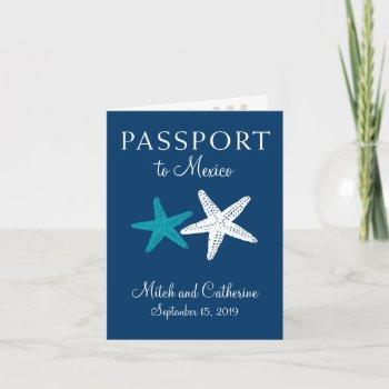 riviera maya mexico with starfish   passport invitation