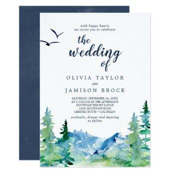 rocky mountain destination the wedding of invitation