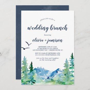 rocky mountain wedding brunch invitation