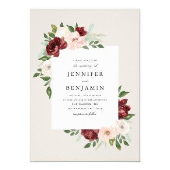 romantic bouquet invitation