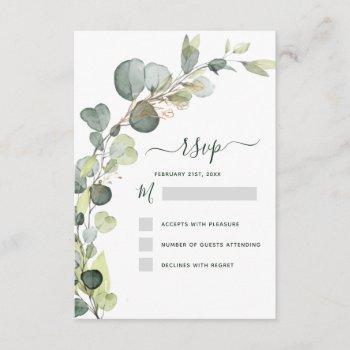 rsvp eucalyptus greenery succulent elegant invitation