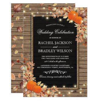 rustic autumn fall invites   wood barn wedding