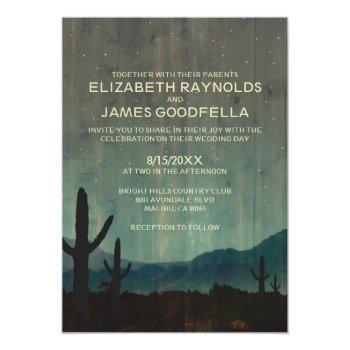 rustic cactus wedding invitations