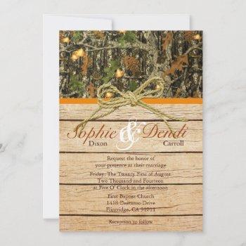 rustic camo wedding invitation
