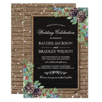 rustic christmas invites | winter wedding