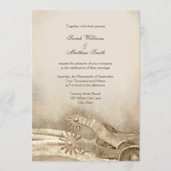 rustic country western wedding invitations