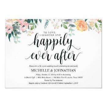 rustic dusk post wedding brunch invitation card