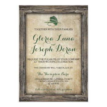 rustic framed fishing lure invitation