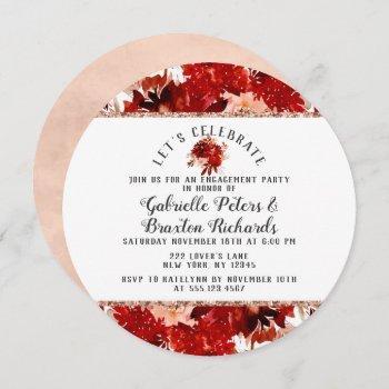 rustic let's celebrate engagement party invitation