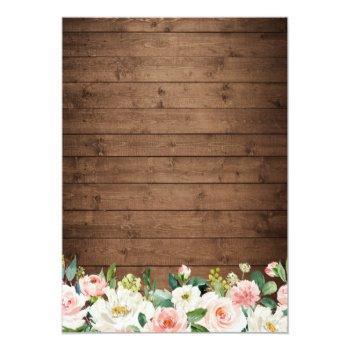 Small Rustic Mason Jar Lights Floral Lace Wedding Invitation Back View