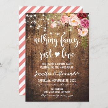 rustic nothing fancy just love invitation