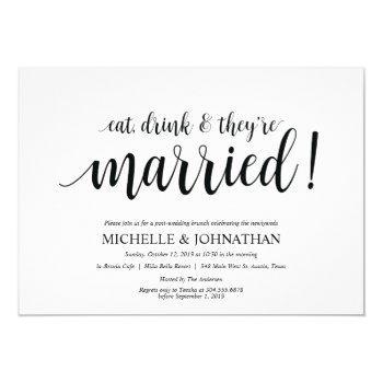 rustic post wedding brunch invitation card