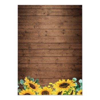 Small Rustic Sunflower String Lights Fall Autumn Wedding Back View