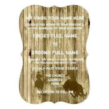 rustic wild west western style cowboy wedding invitation