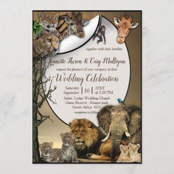 safari outdoor wedding invitation