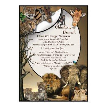 safari outdoor  wedding shower invitation