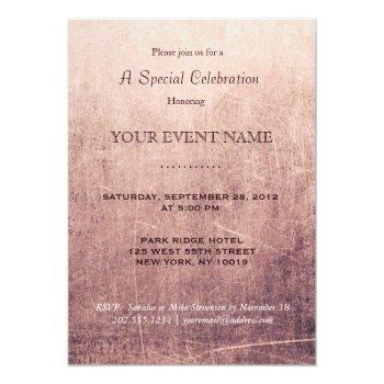 Small Sample Invitation Front View