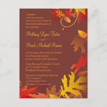 sample invitation - autumn wedding celebration