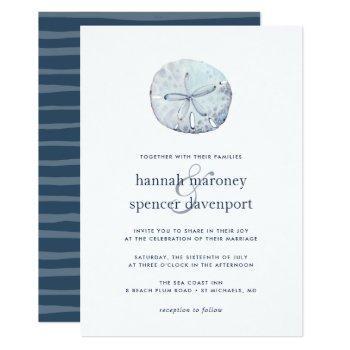 sand dollar wedding invitation