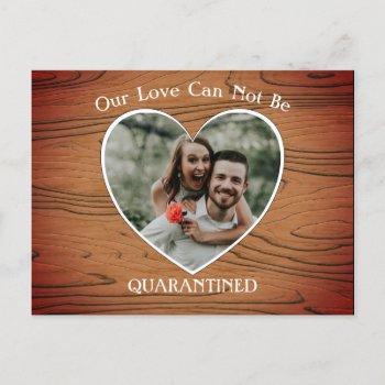 scaled down wedding coronavirus pandemic announcement postcard