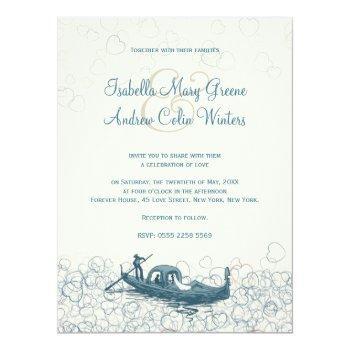 sea of love wedding invitation