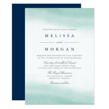 seaglass tides wedding invitation