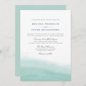 seaglass tides wedding invitation
