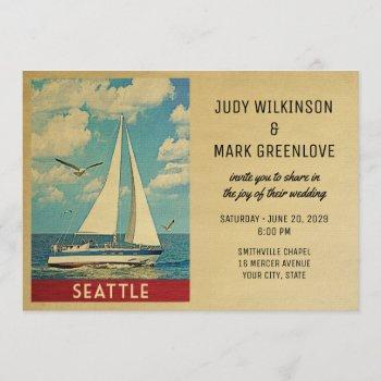 seattle wedding invitation sailboat