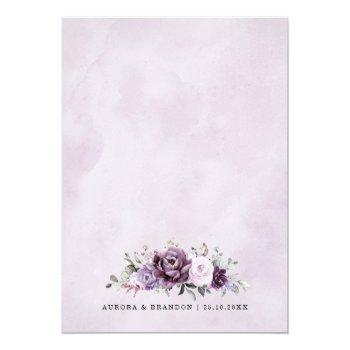 Small Shades Of Dusty Purple Blooms Moody Floral Wedding Back View