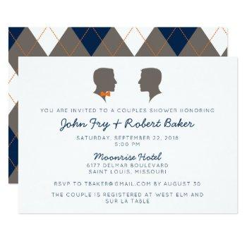 silhouette couple same-sex shower invitation
