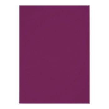 Small Silver Frills Cassis Purple White Virtual Wedding Invitation Back View