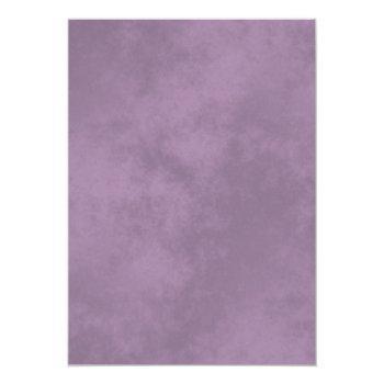 Small Silver Frills Elegant Lavender On White Wedding Invitation Back View