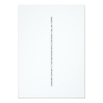 Small Simple Black And White Photo Wedding Postponement Announcement Postcard Back View