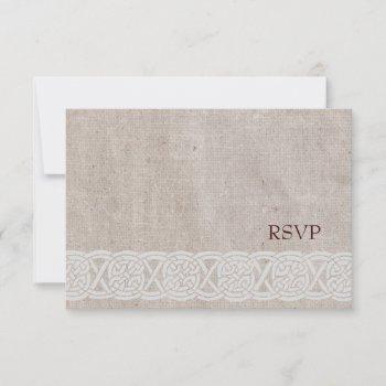 simple celtic wedding rsvp card