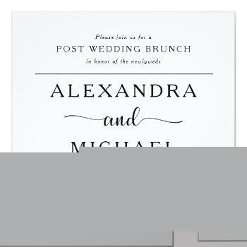simple elegance | minimalist post wedding brunch invitation