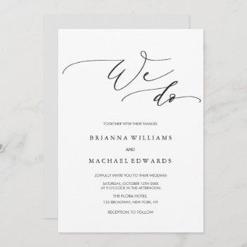 simple elegant calligraphy we do wedding invitation