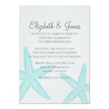 simple starfish wedding invitations